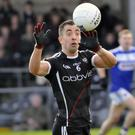 Sligo captain Neil Ewing in action against Laois. Sligo face Longford away this Sunday