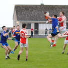 Action from Castleconnor and Easkey in the Kennedy's Intermediate Championship on Saturday in Quigabar