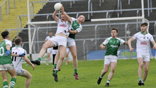 Matthew Glavin of Bunninadden in action with Curry during the IFC Rd 5 game in Markievicz Park. Pic: Carl Brennan