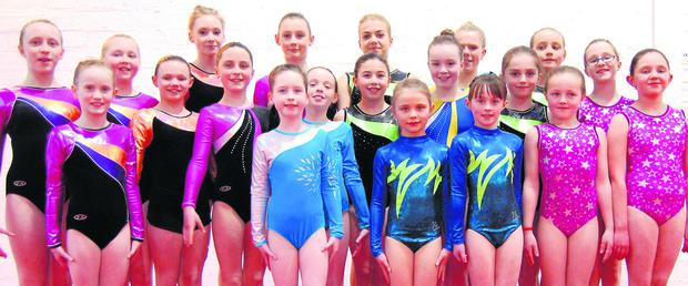Members of the DyNamo Gymnastics Club who took part in their annual Club competition recently