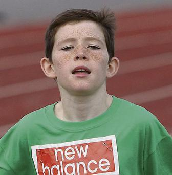 Daniel Gray Hargadon,St. John's NS, in action at the Schools Athletics Fest at IT Sligo last Friday