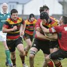 Action from the Sligo RFC and Middleton RFC clash in the AIL.