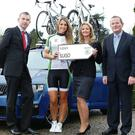 Pictured announcing details of the 2014 ŠKODA Cycle Series in association with Independent News & Media are John Feerick, Managing Director of INM Regional's (West), model Vogue Williams, Lorraine McDonnell, The Sligo Champion and John Donegan, ŠKODA Ireland. The Sligo Sportive will take place on April 5th.