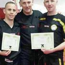 Michael Whelan, Black Belt 1st Degree, Michael McDermott, Chief Instructor Sligo Mugendo and Joe Hagan 3rd Degree, Cookstown.