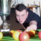 European Junior pool champion, Jamie Gaffney, a Leaving Cert student at Coola PPS.