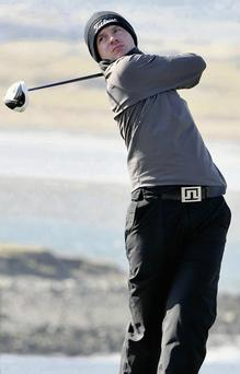 Gary McDermott, one of the leading local hopes for the West of Ireland golf championship.