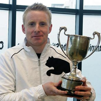 Keith Moran who played a leading role in Ireland's historic victory over England in the Home Internationals Squash Championship in Cardiff