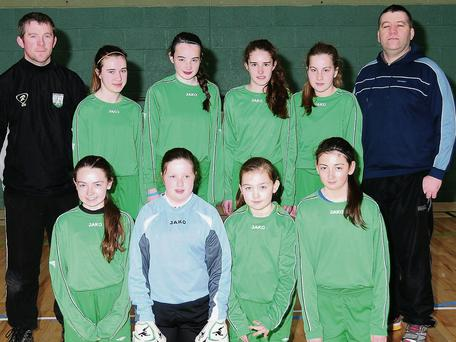 The Ballymote girls team which took part in the Community Games indoor soccer tournament recently.
