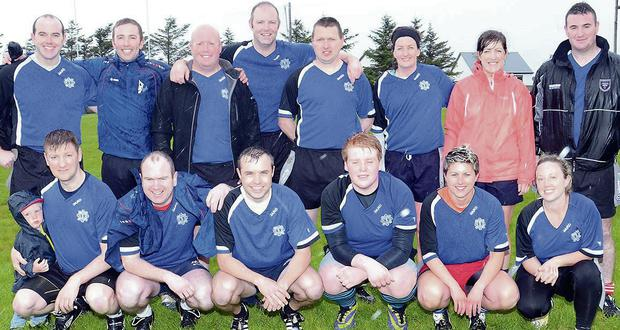 The Bit O'Blue team which is taking part in the Tag Rugby League at Sligo Rugby Club.