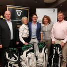 First prize winners at the 8th annual Martin Reilly Motors Golf Classic which raised ?3,240 for North West Hospice. Included are from left David O'Donovan, Irene O'Donovan, Brian Reilly (Martin Reilly Motors), Claudette Murphy and Stephen O'Donovan.