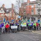 Thumbs up from cyclists at the launch of the An Post Yeats Tour of Sligo. Pics: Colin Gillen