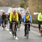 Large crowds of cyclists turned out to support the ABI Ireland fundraiser around Lough Gill
