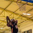 Kaylim Noel with a thunderous dunk, he scored 35 points on the night