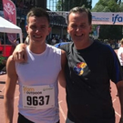 Christopher O'Donnell with coach Roddy Gaynor in Belgium at the weekend.
