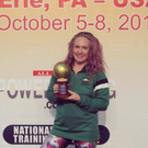 Clodagh Higgins from Ballincar, who set a new World Record at the World Powerlifting Championships