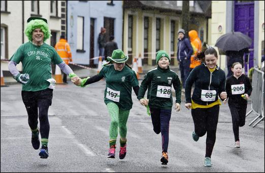 The 45th St Patrick's Day race is taking place in Tubbercurry with huge numbers expected to take part