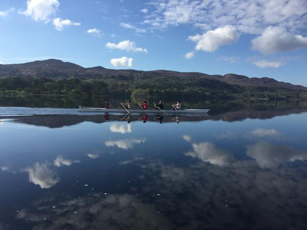 Rowers on Lough Gill.