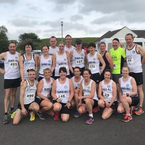 Sligo AC runners who took part in the River Moy Half Marathon on Saturday