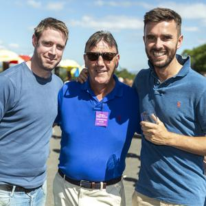 Gary Clancy, Gerry Clancy and Ben Sheppard at the Races this summer