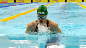 Mona McSharry of University of Tennessee SC competes on day four of the Irish National Swimming Team Trials at Sport Ireland National Aquatic Centre in the Sport Ireland Campus, Dublin. Pic: Brendan Moran / Sportsfile