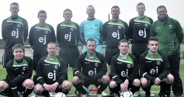 The Strand Celtic team which beat Calry Bohemians 1-0 pictured with manager Maurice Monaghan.