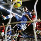 Samuel Eto'o of Chelsea scores his team's third goal and completes his hat-trick.