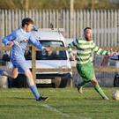 Daniel Hargadon of Ballymote Celtic in action during his side's encounter with Gurteen Celtic on Friday. Pic: Carl Brennan