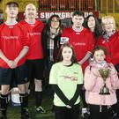 Paddy McLoughlin's family at the Paddy McLoughlin Charity Match in the Showgrounds last Saturday.