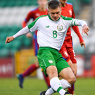Seamas Keogh in action for the Republic of Ireland U17s team