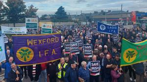 Members of Wexford IFA joined with hundreds of other branch members from around the country at recent rallies.