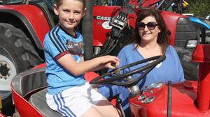 Peter Doyle-Carr and Clodagh Doyle at the Bree Tractor Run.
