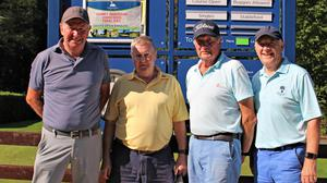 Martin McDonnell, Seamus Doomey, Noel Murray and Tony Leonard at the Gorey Guardian Summer Series held at Courtown Golf Club.