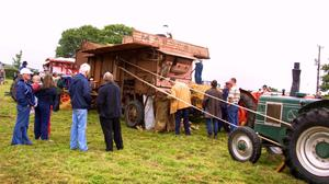 BLAST FROM THE PAST - 2003: A vintage threshing machine in action at the Ballyfad Field Day.