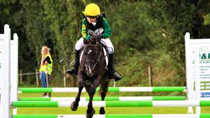 Freya Barry in action at the Junior One Day Event at Frankfort Stud, Camolin.