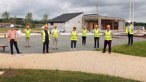 Gorey Kilmuckridge Municipal District councillors visiting Gorey District Park; pictured with council officials, Brian Galvin, Tom Byrne and district manager, Liz Stanley (centre).