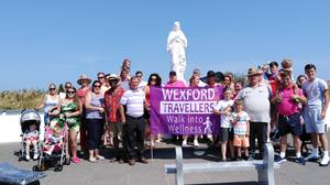 Members of the Wexford Traveller Developmen Group on the 'Walk into Wellness' at Our Lady's Island.
