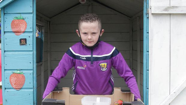 Conor Goucher back on his stall on the Ardcavan Road.
