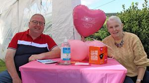 Paul Little and Bridget Kehoe at the Askamore coffee day for the North Wexford Hospice.