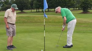 Participants in the Irish Blind Golf day at New Ross Golf Club.