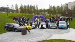 Volkswagen rally launch at the Library park.
