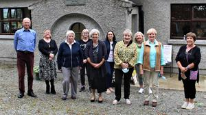 The Hollyfort 200 years old exhibition committee members: (Back, from left) Ray Dowley, Bernie Walsh, Amanda Green, Susan Madden, Lucy Nolan, Mary Lawless, (front) Margaret Donovan, Carol Boland, janet Noblett and Veronica Dowley.