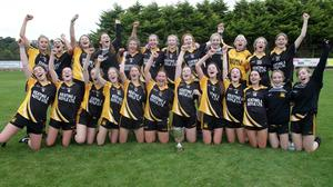 The Adamstown Minors celebrating their county final success on Saturday.