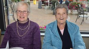 Alice Codd and Margaret Kelly at the Camross ICA 60th anniversary Dinner in The Village at Wheelocks.
