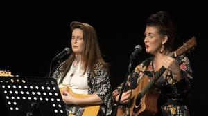 Gayle Murphy and Karen Dunbar performing at the Summer Sessions - Young Voices concert in Wexfort Arts Centre.