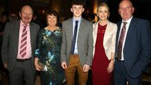 Enjoying themselves at the St Martin's GAA Club dinner dance in The Talbot Hotel on Friday night were John, Teasi, Jack, Fidelma and Alan Devereux.