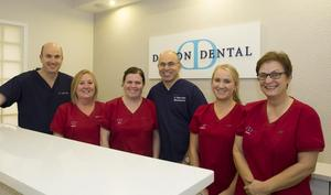 Dillons Dental finalists in the Sensodyne Dental Team of the Year (from left): Adrian Dillon, Mary Dunne, Kim Connolly,Thomas Corkery, Stephanie Boland and Hilde Nolte. Missing is Sharyn Byrne.