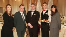 Amanda Kavanagh, Alan Whelan, David Hennessy, Dylan Brohan and Deborah Stewart who are the wedding team at the Amber Springs Hotel in Gorey