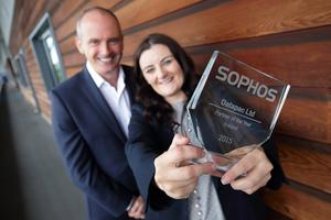 Karen O'Connor, general manager service delivery, Datapac with Dermot Hayden, country manager, Sophos Ireland.