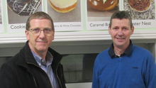 Tom Bermingham with Dermot Kelly of Kelly's Bakery, Wexford