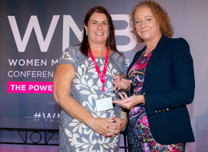 Sinead Fitzmaurice (right) receiving her award